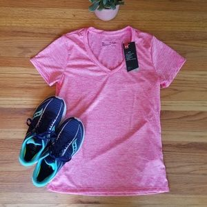 Under Armour Pink Heat Gear V-Neck - NWT/XS